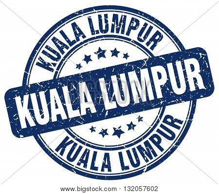 Kuala Lumpur blue grunge round vintage rubber stamp.Kuala Lumpur stamp.Kuala Lumpur round stamp.Kuala Lumpur grunge stamp.Kuala Lumpur.Kuala Lumpur vintage stamp.
