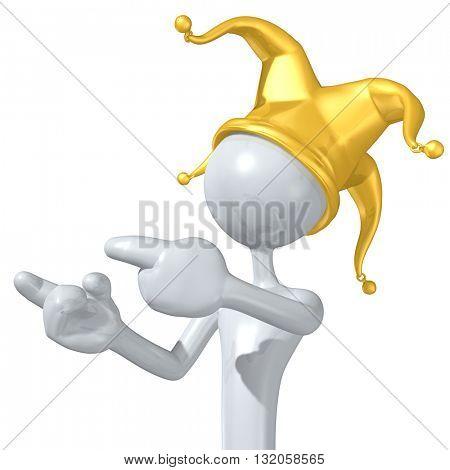 Jester Character 3D Illustration