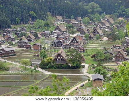 Gassho-zukuri Houses in the vilage of Shirakawa