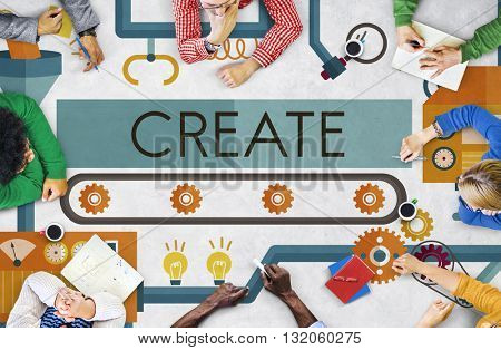 Create Innovation Imagination Development Ideas Concept