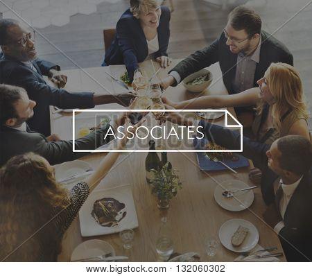 Associates Team Coworker Group Partners Concept