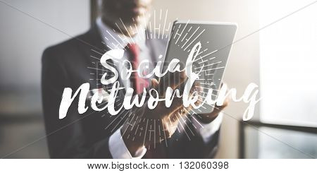 Social Media Connection Networking Chat Concept