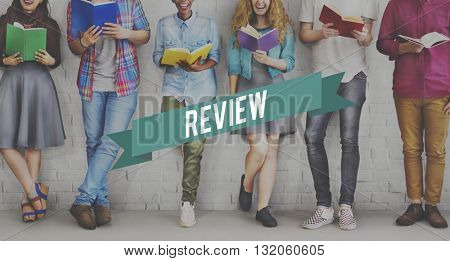 Review Preview Appraisal Audit Evaluate Report Concept