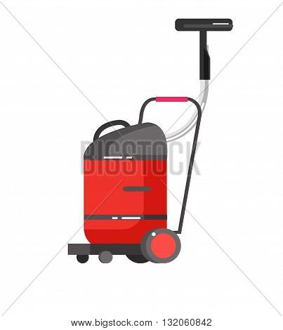 detailed professional vacuum cleaner icon. Vector illustration isolated on white background.