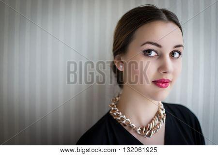 Beautiful girl showing her pure beauty