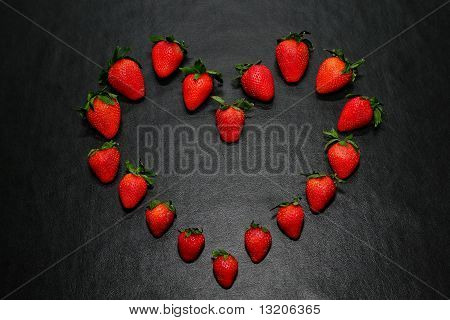 Heart Shape Strawberries