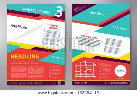 Brochure design a4 template. Vector and illustration