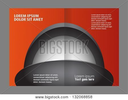 Brochure design. Bi-Fold Corporate Business Store Mock up & Brochure Design