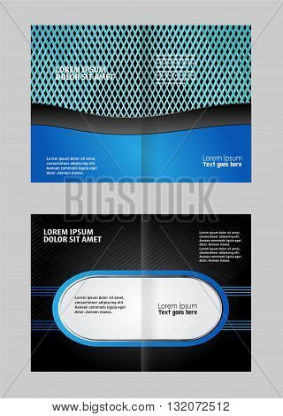 Bi-Fold Mock up Brochure Design. Corporate Bi Fold Brochure vector illustration