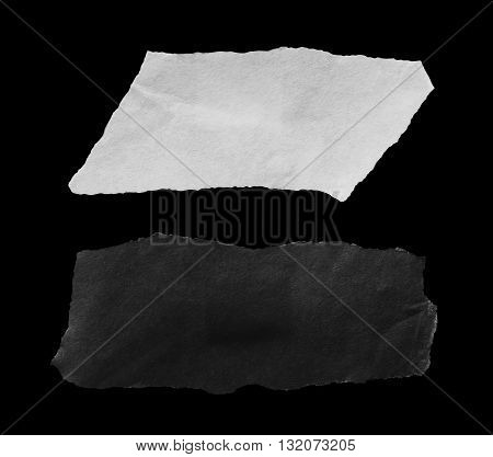 Torn pieces of paper, space for copy