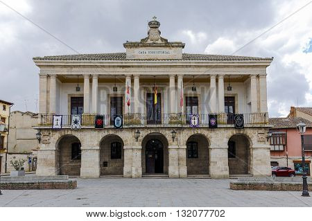 Toro Spain - March 22 2016: Town Hall of Toro Zamora a city in western Spain. It has a great historical and cultural past.