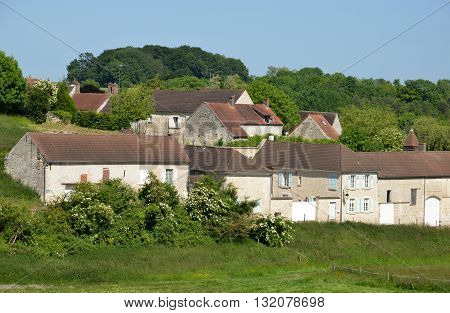 Theuville France - june 4 2015 : the picturesque village in summer