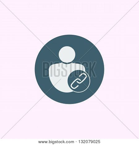 User Link Icon In Vector Format. Premium Quality User Link Symbol. Web Graphic User Link Sign On Blu