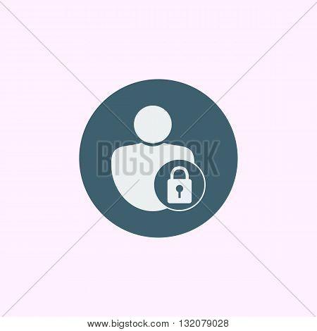 User Lock Icon In Vector Format. Premium Quality User Lock Symbol. Web Graphic User Lock Sign On Blu