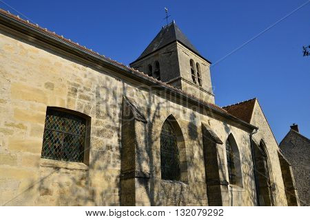 Le Perchay France - march 14 2016 : the Saint Marie Madeleine church