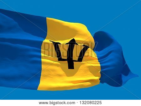 Barbados wave flag HD island country Bridgetown