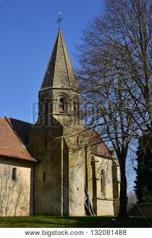 Lierville France - march 14 2016 : the historical Saint Martin church
