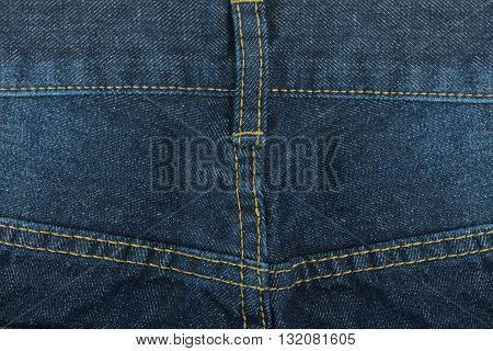 Long trousers jeans isolate on white background