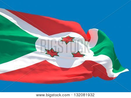 Burundi wave flag HD Republic of Burundi