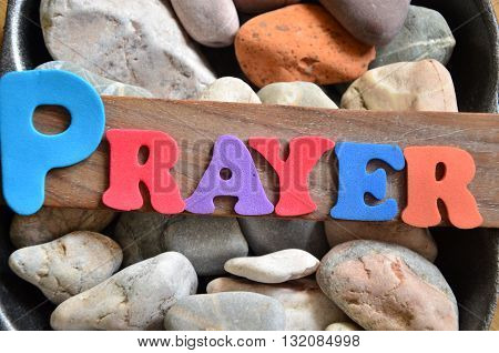 prayer word on a  abstract colorful background