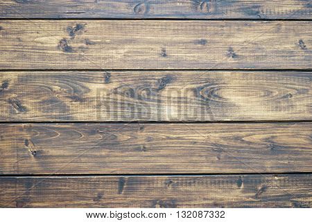 Dark wooden background and wooden texture with horizontal boards