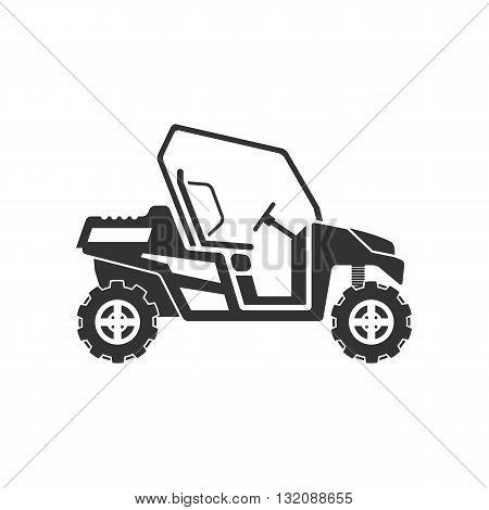 Dune buggy or desert car icon vector illustration isolated on white background.