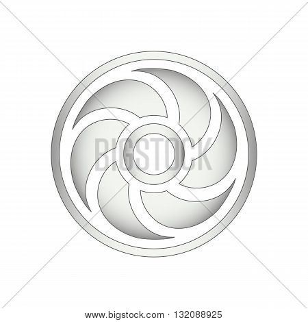 Fan or computer cooler icon vector illustration isolated on white background.