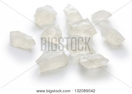 Japanese traditional confectionery, Kohakutou, dried sweetened agar jelly, plain