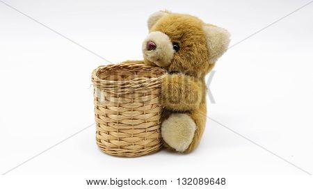 Teddy Bear hug basket is Equipment for pencils, pens and more.