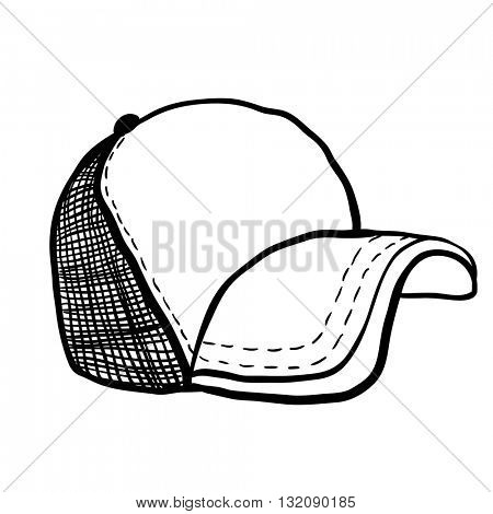 trucker cap cartoon isolated on white