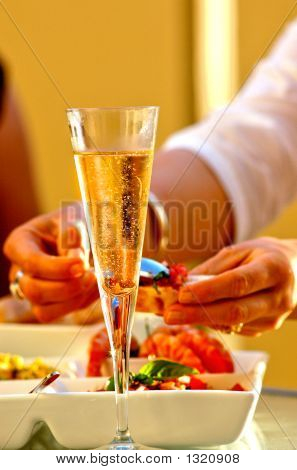 Wine Glass And Seafood