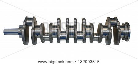 Isolated on white background crankshaft from engine car