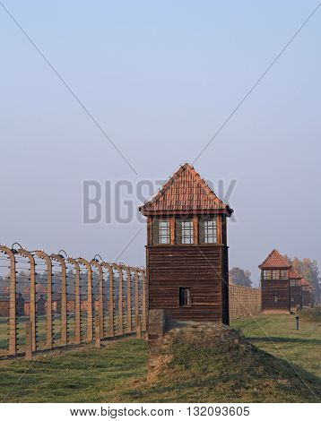 Fence Of Barbwire In Concentration Camp Auschwitz Ii Birkenau