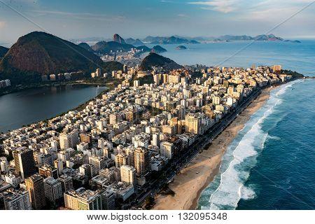 Ipanema Beach In Rio De Janeiro, Aerial View
