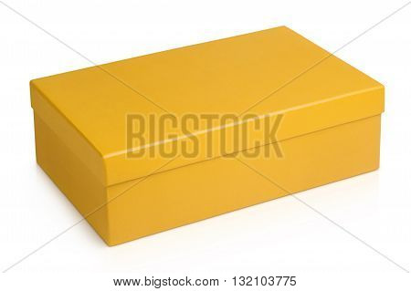 Shoe box with lid isolated on a white background.