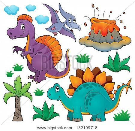 Dinosaur topic set 2 - eps10 vector illustration.