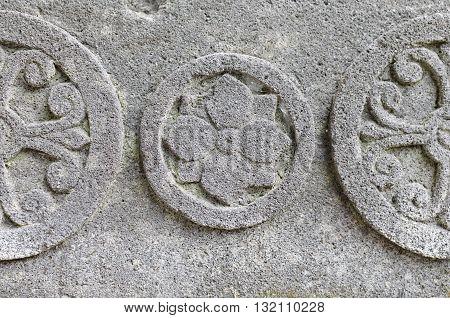 Chakra Symbol at Statue Base 8th - 10th century