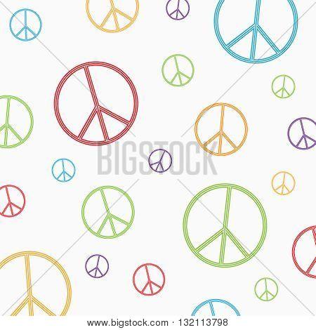 Peace symbol on white background. Vector illustration.