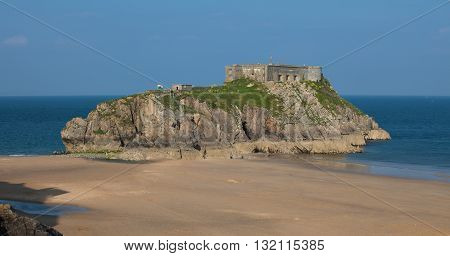 St Catherine's Island is a small tidal island at the town of Tenby in Pembrokeshire, Wales