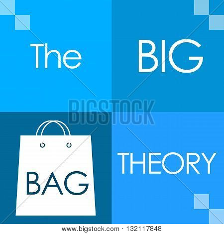 The big bag theory text written over blue background.