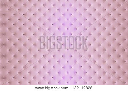 Buttoned Pink Leather Wall