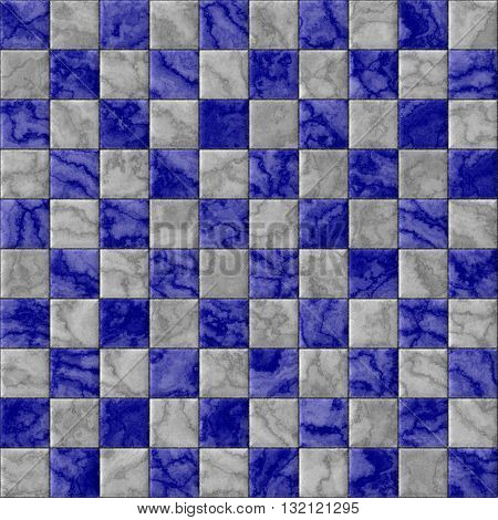 Checkerboard decorative texture - blue and white pattern
