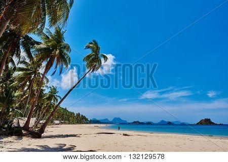Nacapan beach El Nido Palawan Philippines