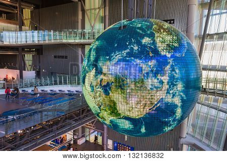 TOKYO JAPAN - NOVEMBER 27 2015: The National Museum of Emerging Science and Innovation known as the Miraikan literally