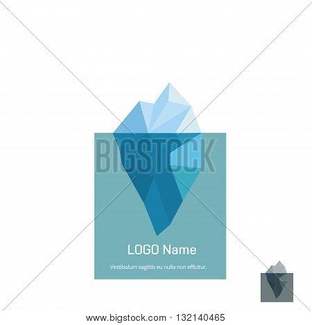 Iceberg. Iceberg logo. Iceberg icon. Iceberg symbol. Iceberg isolated logo. Iceberg logo vector illustration. Triangle iceberg logo design.