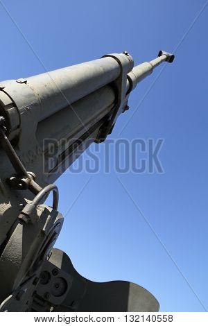 Cannon Barrel-The World War II. National Memorial Hrabyne / Cannon Barrel from World War II in the National Memorial Hrabyne