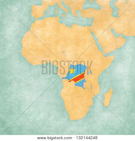 Map Of Africa - Democratic Republic Of The Congo
