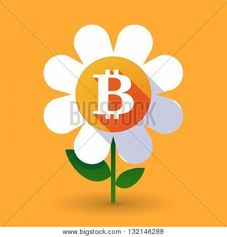 Vector Flower With A Bit Coin Sign