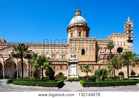 Palermo Cathedral (Metropolitan Cathedral of the Assumption of Virgin Mary) in Palermo Sicily Italy