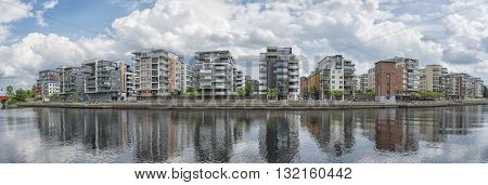 Luxury apartments on the nissan riverside close to the university at Halmstad Sweden.